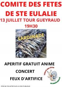 SARDINADE 13 JUILLET TOUR GUEYRAUD 19h30