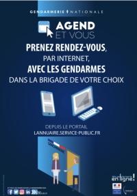 Prise de rendez-vous par Internet avec la Gendarmerie pour les dépôts de plaintes